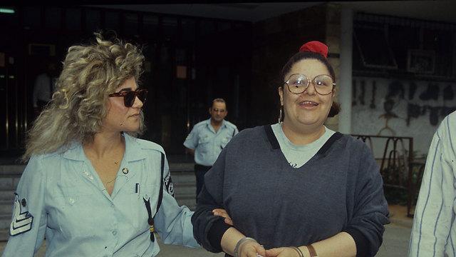 גרנות לאחר מעצרה בשנת 1985 (צילום: מאיר פרטוש) (צילום: מאיר פרטוש)