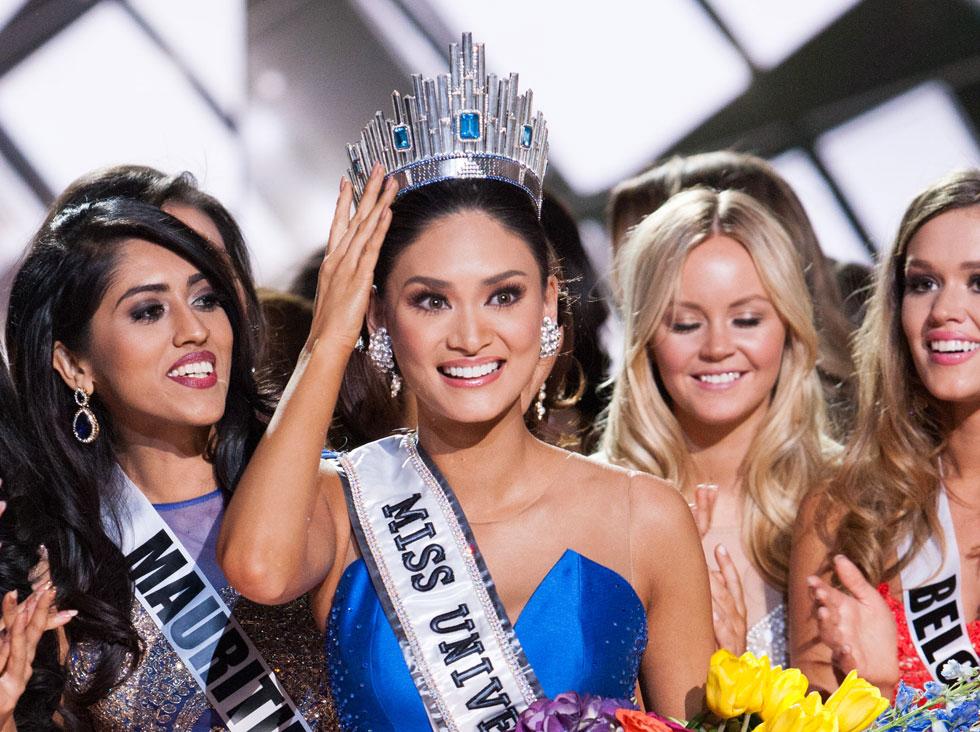 ועכשו זה סופי: מיס יוניברס 2015 היא פיה אלונזו וורטצבאך בת ה- 26 מהפיליפינים. נערת ישראל (מימין לה) לא העפילה לגמר (צילום: : Darren Decke)