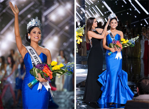 מיס פיליפינים ברגע ההכתרה (צילום: : Darren Decke)