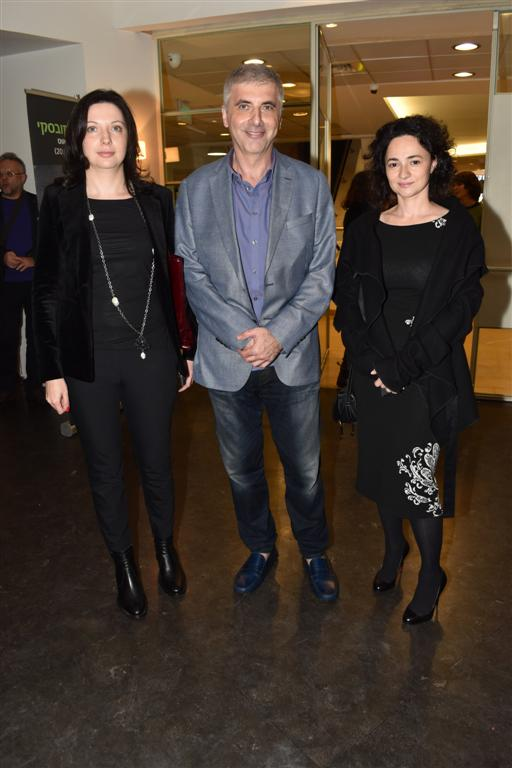 מימין: טטיאנה גרינברג, לאוניד נבזלין, ואירנה נבזלין (צילום: רפי דלויה) (צילום: רפי דלויה)