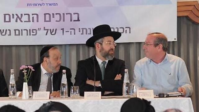 השר דוד אזולאי, בכנס שיזם המשרד לשירותי דת