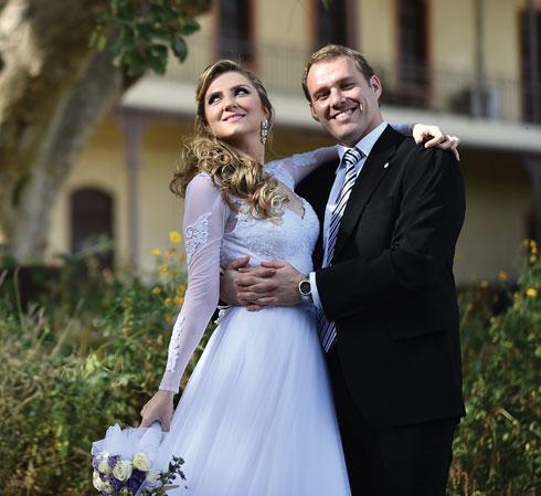 אדי ודיאנה. הכירו בקבוצה והתחתנו (צילום: רומבה צלמים)