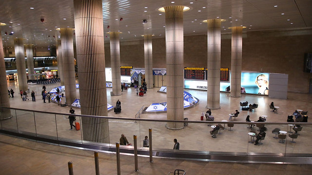 Arrivals halls at Ben Gurion International Airport (Photo:Moti Kimchi)