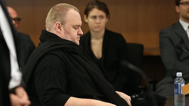 דוטקום בבית משפט בניו זילנד (צילום: AFP) (צילום: AFP)