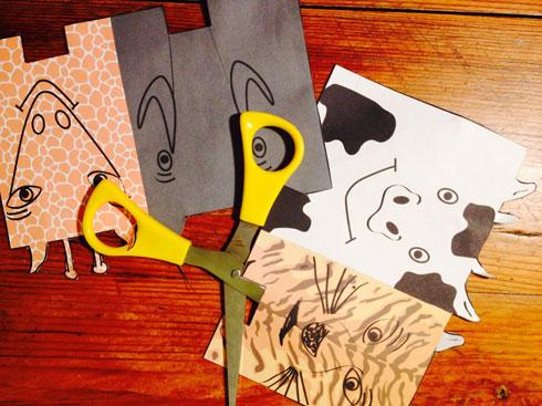 גוזרים את ציורי החיות בהתאם להיקף הגליל (צילום: באדיבות מגזין חלבלוב)