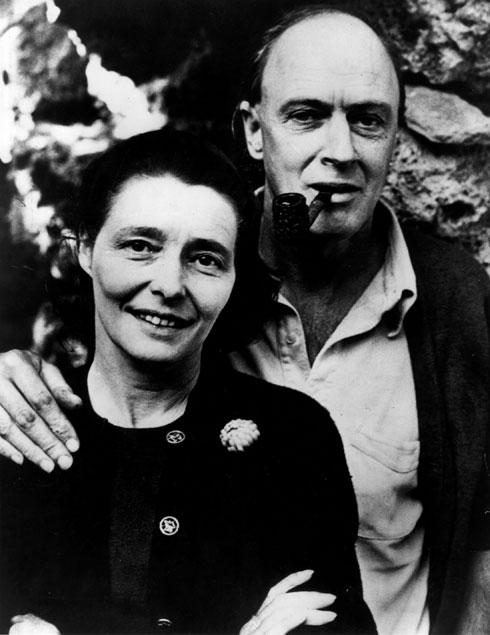 הסבא והסבתא: רואלד דאל, סופר מפורסם שהכריז על עצמו כאנטישמי ואנטי ישראלי, והשחקנית זוכת האוסקר פטרישיה ניל (צילום: gettyimages)