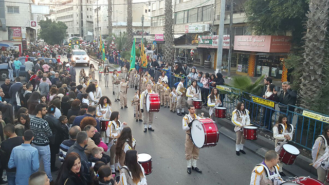 Last year's Christmas parade in Nazareth (Photo: Zoomout)