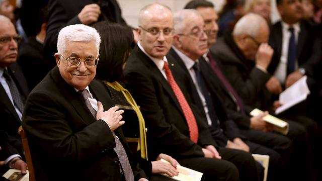 Palestinian President Abbas attending midnight mass at the Church of the Nativity (Photo: Reuters)