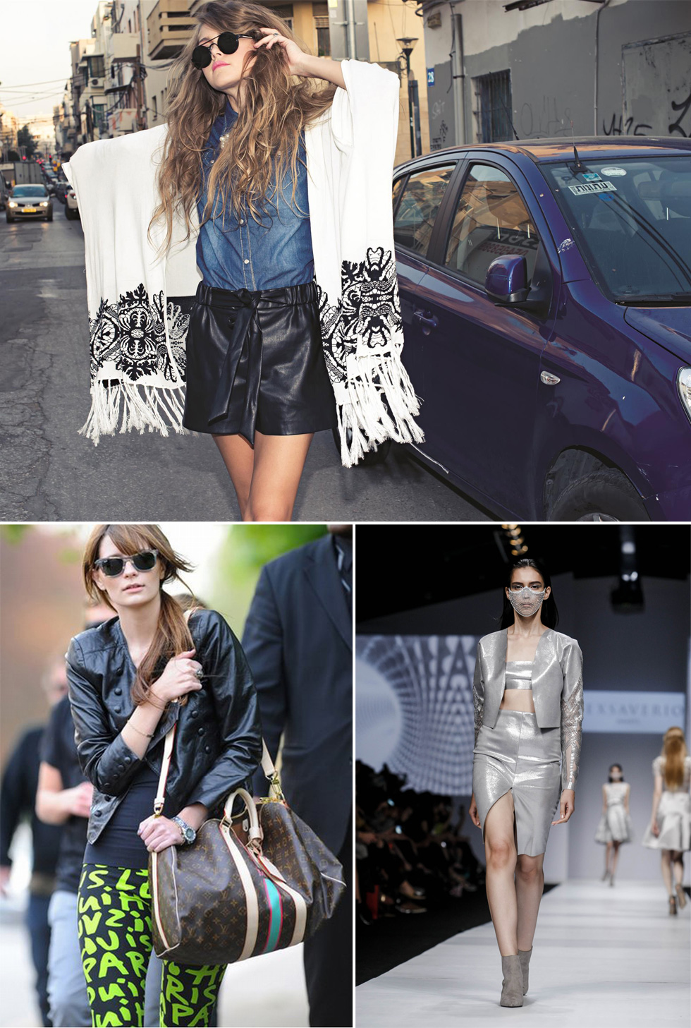 ביפו תל-אביב מחליפים את המיתוג במחירים נוחים (למעלה), בשבוע האופנה באינדונזיה מאמצים את מסכות הפנים, ומישה ברטון מעדיפה יחס אישי מלואי ויטון