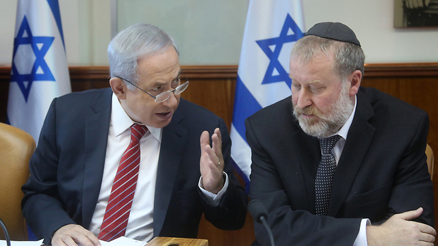 Benjamin Netanyahu with his then-cabinet secretary Avichai Mandelblit in 2015 (Photo: Marc Israel Sellem)