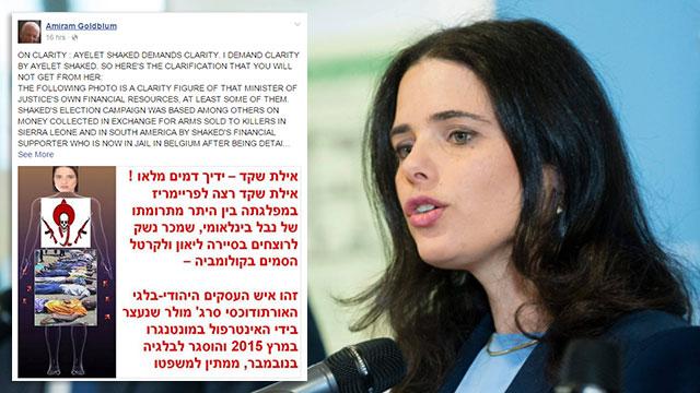 Prof. Amiram Goldblum's post against Justice Minister Ayelet Shaked. Sinking deeper into demonization (Photo: EPA)