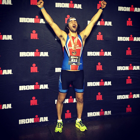 Eli Winegar after taking part in the Ironman contest