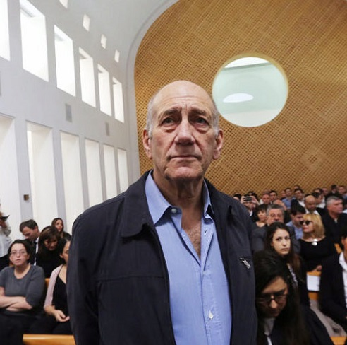 Ehud Olmert in court on Tuesday