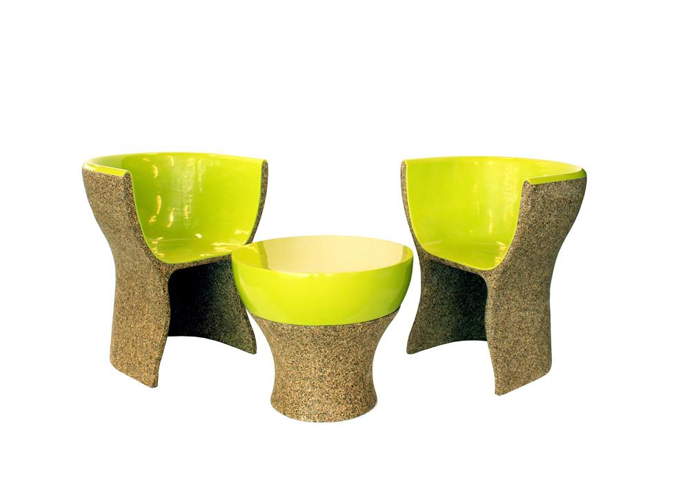 על הכיסאות האלה ישבו כוכבי המוזיקה הגדולים בעולם: רהיטים של דלאנטר שהוצבו בטקס הגראמי (באדיבות חברת NaturesCast)