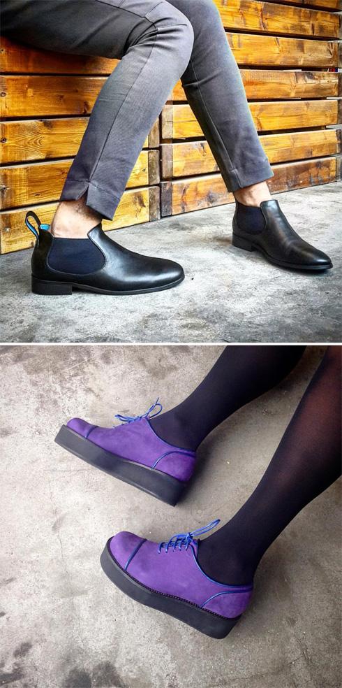 ארמה. נעליים ייחודיות שקל לזהות (צילום: דדי אליאס)