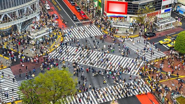 Пешеходный переход в центре Токио. Фото: shutterstock