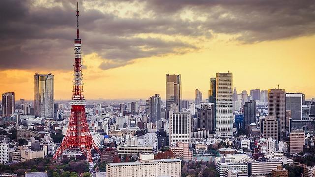 """קו הרקיע של טוקיו עם """"מגדל האייפל"""" שלהם (צילום: shutterstock) (צילום: shutterstock)"""