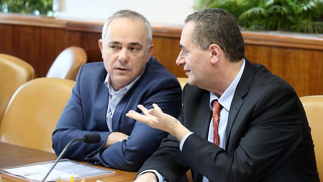 Юваль Штайниц и Исраэль Кац. Фото: Марк Исраэль Салем
