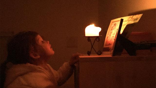 ערב לאור נרות בכפר סבא  (צילום: שירה שרמן)