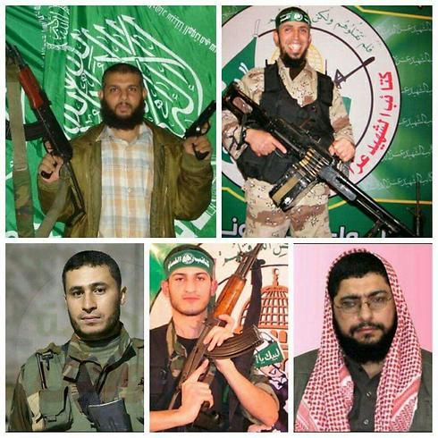 מימין לשמאל למעלה: חאלד אבו בכרה וסאמי חמאיידה. מימין לשמאל למטה: עבדאללה לבד, מוחמד דאוד ועבד א-רחמן מובאשר ()