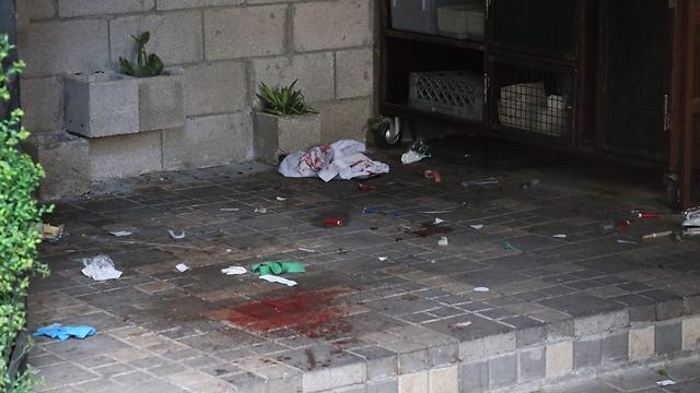 The scene of a shooting attack in Tel Aviv (Photo: Motti Kimchi)