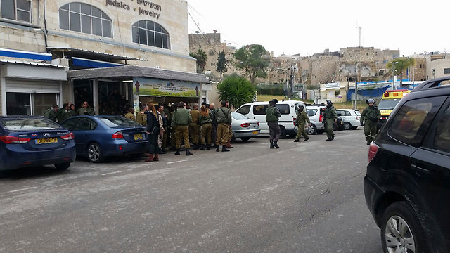 Scene of shooting attack near Tomb of the Patriarchs in Hebron