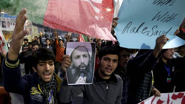 מחאה שיעית עולמית. מפגינים בלאהור, פקיסטן (צילום: EPA) (צילום: EPA)