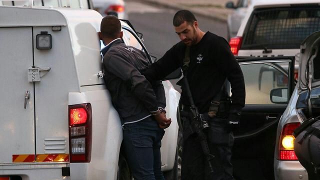 The supect in the Jerusalem stabbing attack was arrested by police a short time afterwards (Photo: TPS)