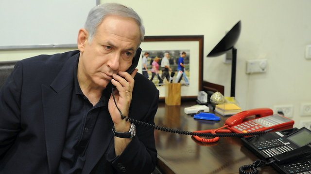 Prime Minister Netanyahu has a 'Red Phone' in his office (Photo: Moshe Milner, GPO) (Photo: Moshe Milner)
