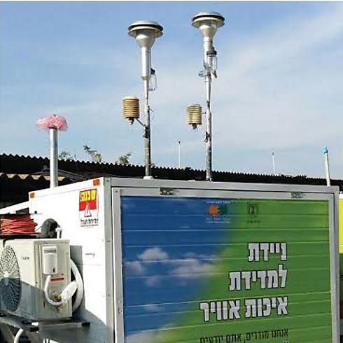 מתקן ניטור במפרץ חיפה (צילום: רוני מימון) (צילום: רוני מימון)