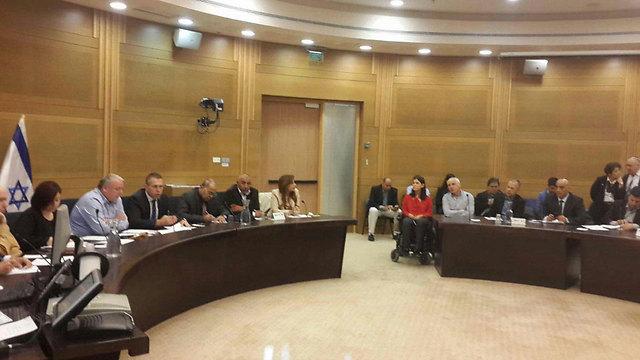 הדיון בוועדת הפנים של הכנסת, הבוקר (צילום: עומרי אפרים) (צילום: עומרי אפרים)