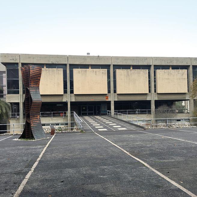 הספרייה המרכזית של אוניברסיטת בר־אילן. הנצחה בעשרה מיליון דולר   צילום: תומריקו