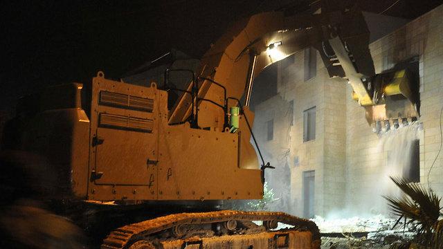 Demolition of terrorist's home in Jabel Mukaber