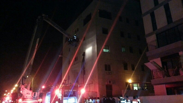 The scene of the fire (Photo: Medabrim Tikshoret)