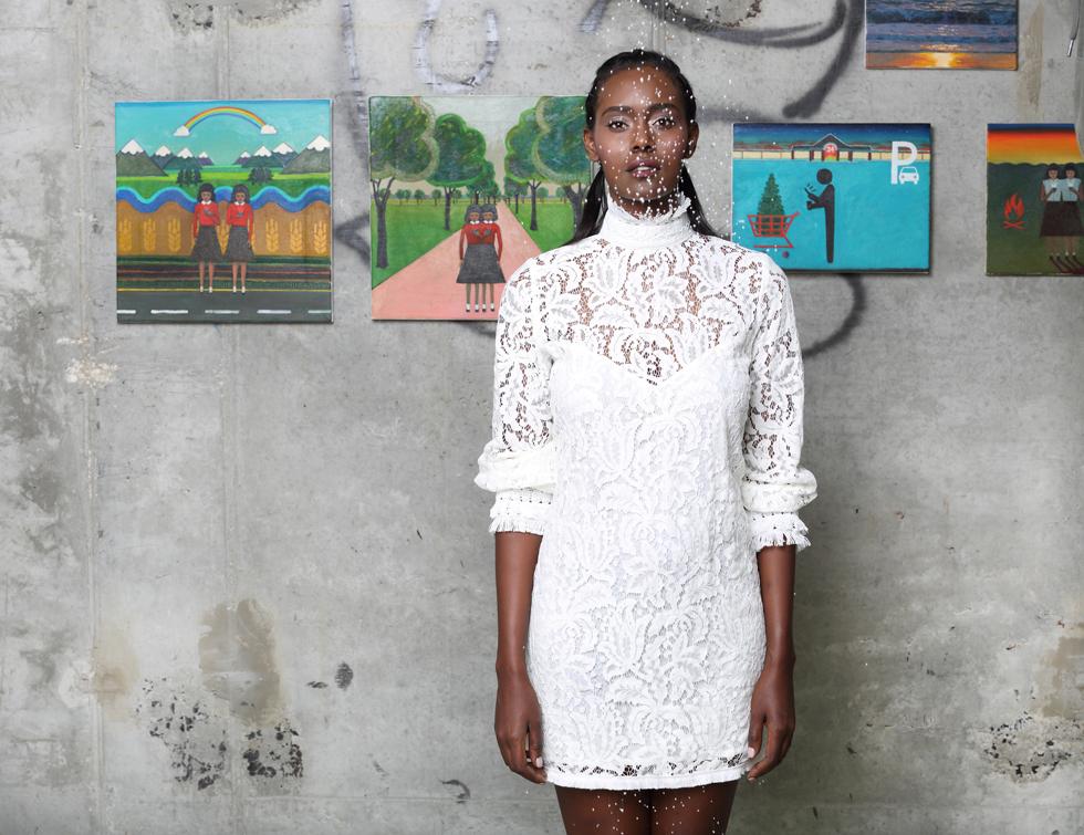 שמלה, לילך אלגרבלי / ציורים: גבריאלה שוץ (צילום: תמר קרוון)