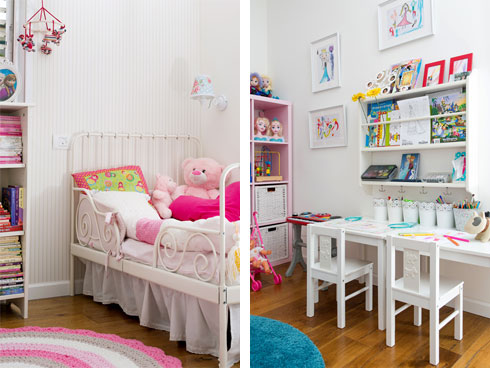חדר המשחקים (מימין) וחדר השינה של הילדות (צילום: שירן כרמל)