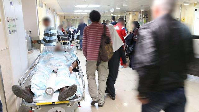 """עומס בבית החולים רמב""""ם בחיפה, השנה. בתקווה שהמקצוע החדש יפחית את העומסים (צילום: אלעד גרשגורן) (צילום: אלעד גרשגורן)"""