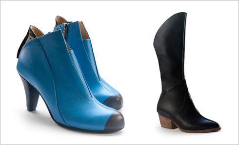 מגפיים מדגם ג'ו, 900 שקל; מגפונים מדגם סלין, 670 שקל. המחירים אחרי הנחת סוף עונה  (צילום: ליאור ליבנה)