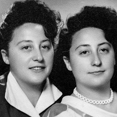 """יונה (משמאל) ואחותה מרים. """"חווינו על בשרנו את הזוועות"""""""