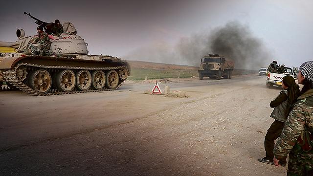 YPG roadblock north of Sinjar