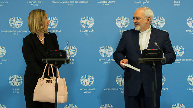EU High Representative Federica Mogherini and Iranian Foreign Minister Mohammed Zarif (Photo: EPA)