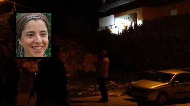 זירת הרצח של דפנה מאיר בעתניאל ()