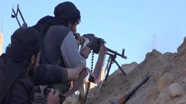 ISIS fighters in Syria. The IDF doesn't want thier defeat to come at the hands of other radicals.