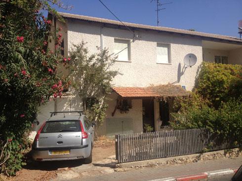 הבית מבחוץ, לפני השיפוץ (באדיבות אדריכלית ליאת מילר)
