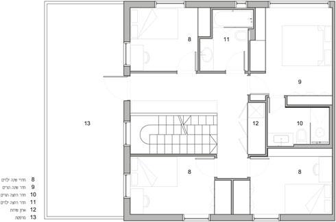 התוכנית החדשה של הקומה (באדיבות אדריכלית ליאת מילר)