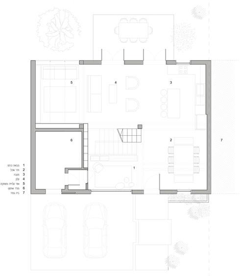 ואחרי השיפוץ והרחבת הסלון (באדיבות אדריכלית ליאת מילר)