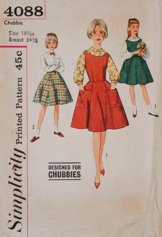 """""""מעוצב עבור Chubbies"""", פרסומת מ-1961 (4088 Chubbie Printed Pattern, 1961 )"""