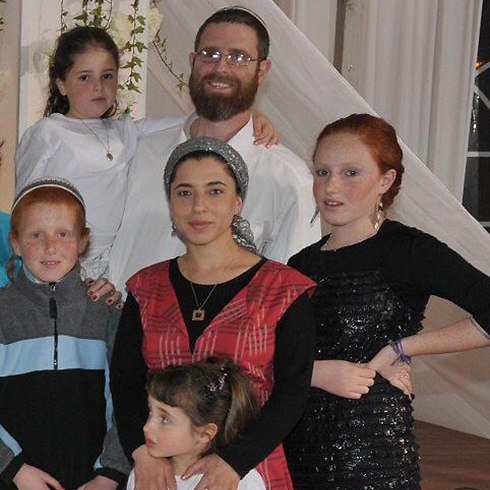 Dafna with her husband Natan and their children Renana, Akiva, Ahava and Noa.