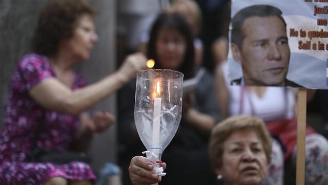 עצרת הזכרון לניסמן בבואנוס איירס (צילום: EPA)