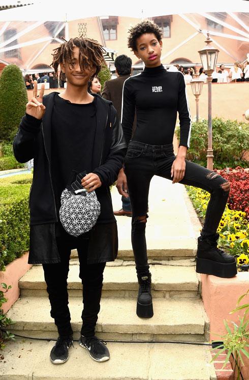 מי לובש את החצאית בבית? ווילו וג'יידן סמית' (צילום: gettyimages)